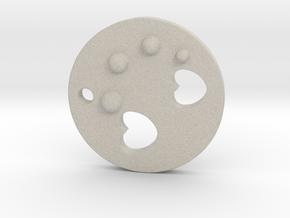 Love Disk V2 20mm in Natural Sandstone