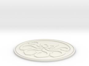 Hydra Badge in White Natural Versatile Plastic