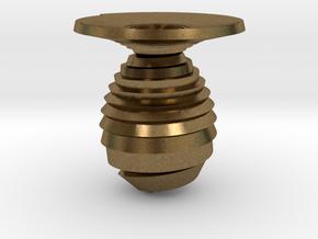 Vase spiral in Natural Bronze