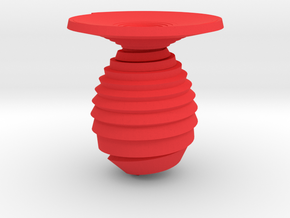 Vase spiral in Red Processed Versatile Plastic