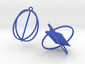 Tardis Earrings in Blue Processed Versatile Plastic
