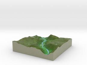 Terrafab generated model Fri Feb 07 2014 00:09:29  in Full Color Sandstone