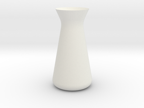 Designer Vase (Mini) in White Natural Versatile Plastic