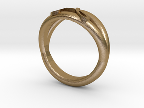 J-ring in Polished Gold Steel