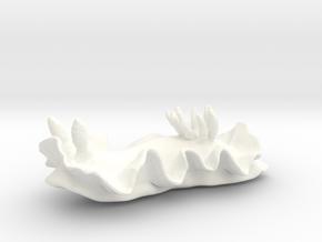 Becia the Nudibranch in White Processed Versatile Plastic: Medium