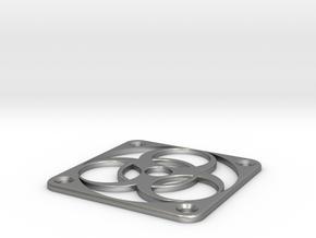 PC Fan grill - BioHazard - (50mm) in Natural Silver