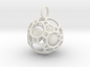 Just So Ball Cage  in White Natural Versatile Plastic