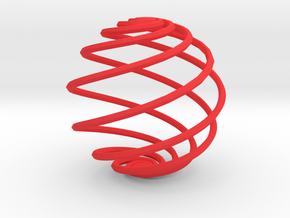 Loxodrome in Red Processed Versatile Plastic