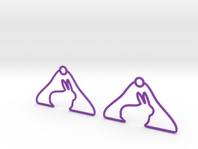 Rabbit Hanger Earring in Purple Strong & Flexible Polished