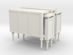 JCDecaux Shelter (short) 1:148 N Gauge in White Natural Versatile Plastic