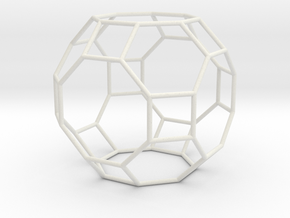 GreatRhombicuboctahedron 100mm in White Strong & Flexible