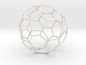TruncatedIcosahedron 100mm in White Natural Versatile Plastic