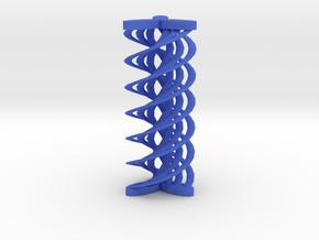 Spirals array in Blue Processed Versatile Plastic