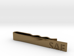 """SAF"" Tie Bar in Raw Bronze"