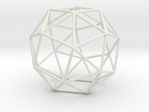 SnubCube 100mm in White Natural Versatile Plastic