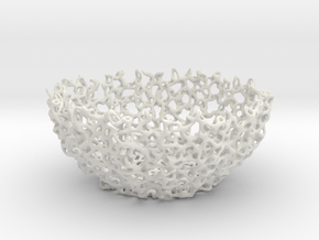 Mini Coral bowl in White Natural Versatile Plastic