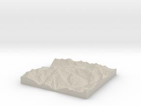 Model of Albion Alps in Natural Sandstone