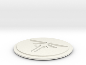 """The Last of Us Firefly pin 3/4"""" Dia. in White Natural Versatile Plastic"""