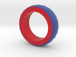blue And red Bracelet 2 in Full Color Sandstone
