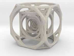 3D Cube paperweight  in Natural Sandstone