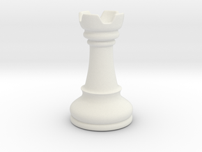 Rook (Chess) in White Natural Versatile Plastic