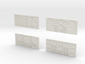 CP11 Flat Control Panels Design (28mm) in White Natural Versatile Plastic