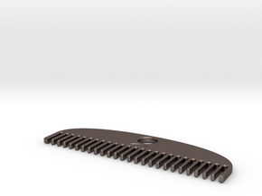 Brushbit in Polished Bronzed Silver Steel