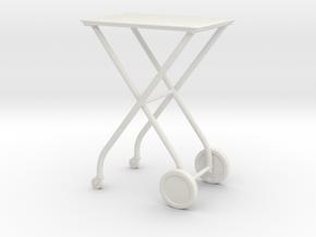 1:24 Medical Cart in White Natural Versatile Plastic