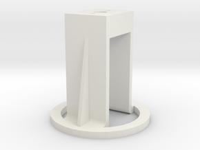 Motorhalterung - Version 1 in White Strong & Flexible