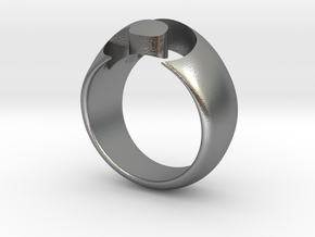 S-ring in Natural Silver