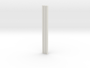 Fluted Rod 99mm X3 in White Natural Versatile Plastic