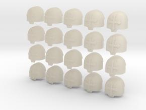 20 28mm Custom Large Shoulder Pad Cross in White Acrylic
