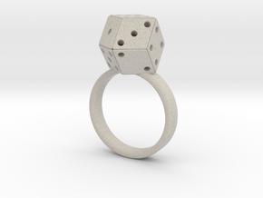 Rhombic Die Ring in Natural Sandstone