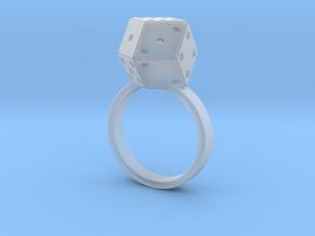Rhombic Die Ring in Smooth Fine Detail Plastic