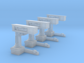 4 bascules SNCB (HO) in Smooth Fine Detail Plastic