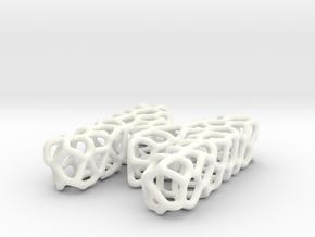 Organic Letter M Pendant in White Processed Versatile Plastic