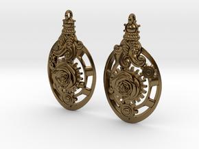 Botanika Mechanicum Earrings in Polished Bronze