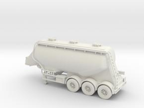 OO 1/76 Feldbinder Cement Flour Tanker - BR  in White Natural Versatile Plastic