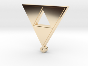 triforce pendant in 14K Yellow Gold