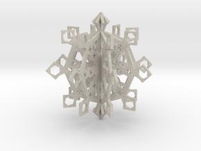 snowflake ornament in Natural Sandstone