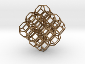 Truncated Octahedra in Natural Brass