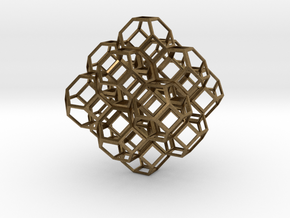 Truncated Octahedra in Natural Bronze