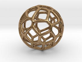 Organic Sphere Pendant in Natural Brass