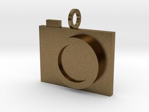 Camera Pendant in Natural Bronze