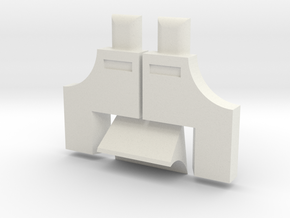 R2 Ankle Greeble Kit HOLLOW in White Natural Versatile Plastic