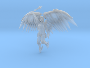 28mm Metal Angel in Smooth Fine Detail Plastic