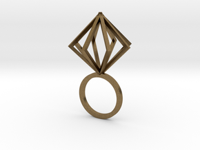 Ring With Box size 9 in Natural Bronze
