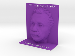 Illusion Albert Einstein - 120mm in Purple Strong & Flexible Polished
