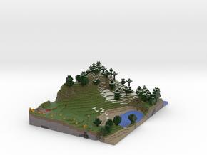 Minecraftlandscape (summer) in Full Color Sandstone