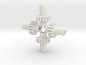 Bachmann 44 ton Gears fine-tooth version in White Natural Versatile Plastic